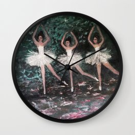 Ballerinas in the Park Wall Clock