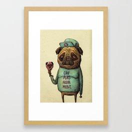 Cat Puns Framed Art Print
