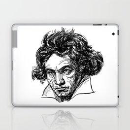 Ludwig Van Beethoven line drawing Laptop & iPad Skin