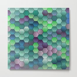 Honeycomb hexagonal Metal Print