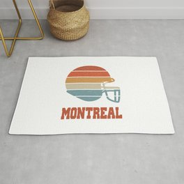 Montreal  TShirt American Football Shirt Footballer Gift Idea  Rug