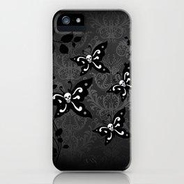 Skullerflies in the garden - dark scale iPhone Case