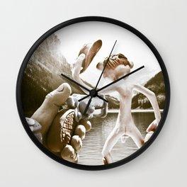 Naked Cowboy (retro color) Wall Clock