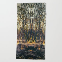 Totem of the Predator Beach Towel