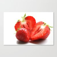 strawberry Canvas Prints featuring Strawberry by Anne Seltmann