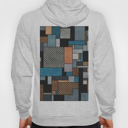 Random Concrete Pattern - Blue, Grey, Brown Hoody