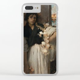 John Singer Sargent - Venetian Onion Seller Clear iPhone Case