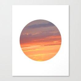 Berkshire Sunset IV circle Canvas Print