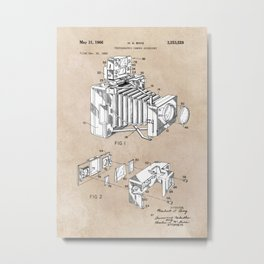patent art 1966 Bing photographic camera accessory Metal Print
