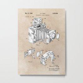 patent art 1966 Bing photographic camera accessory Metal Print