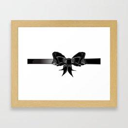 Black Silk Bow Framed Art Print