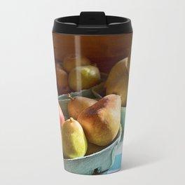Pear Golden Metal Travel Mug
