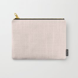 Perfect Pale Millennial Pink Solid Color Carry-All Pouch