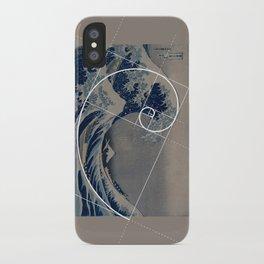 Hokusai Meets Fibonacci iPhone Case