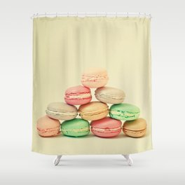 French Macarons Shower Curtain