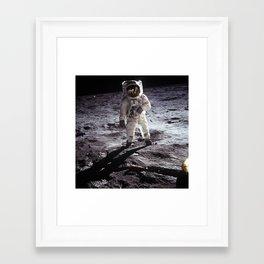Apollo 11 - Iconic Buzz Aldrin On The Moon Framed Art Print