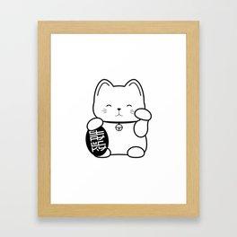 Stay Lucky WHT Framed Art Print