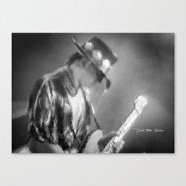 Stevie Ray Vaughan (Black &White) Canvas Print