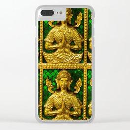 praying budda Clear iPhone Case