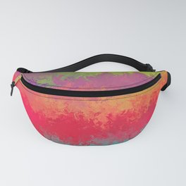 Liquid rainbow, abstract painting Fanny Pack
