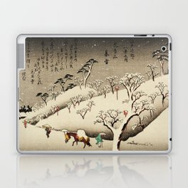 Lingering Snow at Asukayama Japan Laptop & iPad Skin