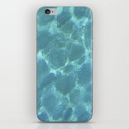 Turquoise Blue Water iPhone Skin