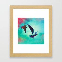 Gulls In Flight Framed Art Print