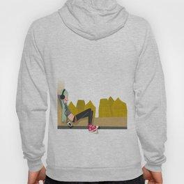 fashion hipster music illustration girl Hoody