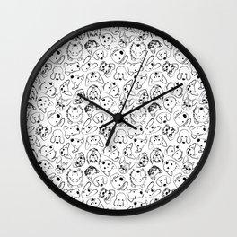 Dogs pattern Wall Clock