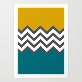 Color Blocked Chevron Art Print