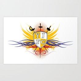 Yellow Jacket Fencing Club Classic Art Print