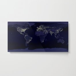 Earth Lights Metal Print