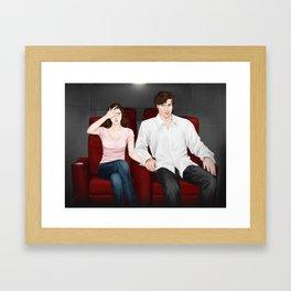 viewing valentines Framed Art Print