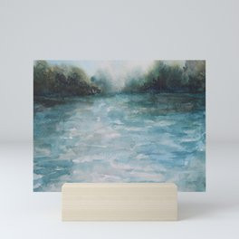 Watercolour Riverscape Mini Art Print