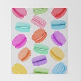Macaron Rainbow Throw Blanket