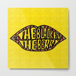 The Blacker the Berry Tribe called quest Metal Print