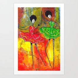 Dancing To Life's Music Art Print
