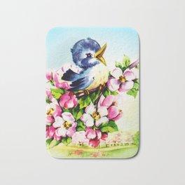Morning Bluebird Bath Mat