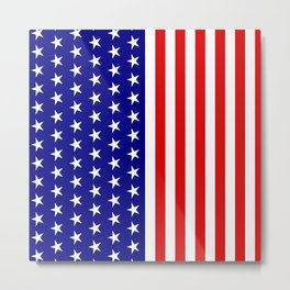 Classic American Flag Stars and Stripes Metal Print