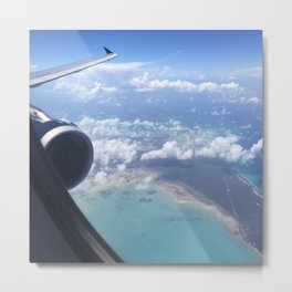 Tropical Plane Ride Metal Print