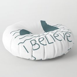 Loch Ness Monster Floor Pillow