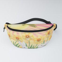 bunnies, daffodils, yellow warblers, & sunshine Fanny Pack