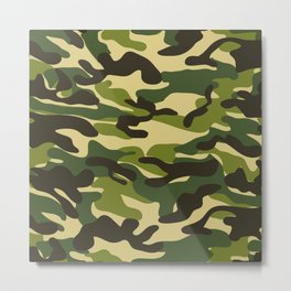 Fashion Military Camouflage Pattern Metal Print