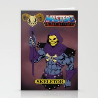 skeletor Stationery Cards featuring Skeletor by W. Keith Patrick