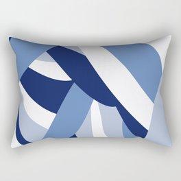 Pucciana Blue Rectangular Pillow
