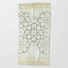Geometry Sketch Nine Beach Towel