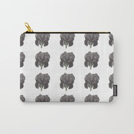 Black Iris pattern Carry-All Pouch