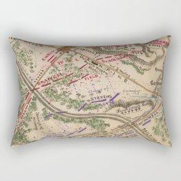 Vintage Map of The Battle of Chantilly (1865) Rectangular Pillow