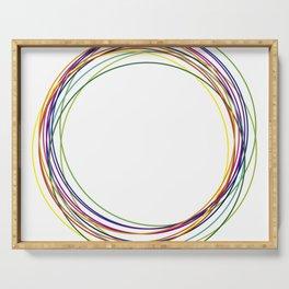 color circles Serving Tray