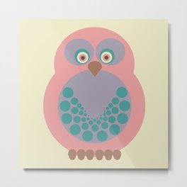 Expectant Owl vers. 2 Metal Print